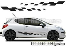 Peugeot 207 010 side flags graphics stickers decals vinyl