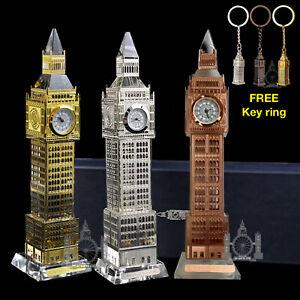 London Big Ben crystal clock British souvenirs LED light gift glass FREE keyring