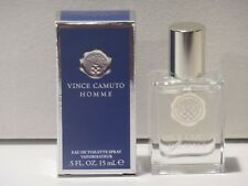 NEW VINCE CAMMUTO HOMME .5 oz / 15 ml deluxe mini travel spray in box with top