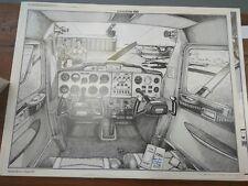 Cesna 150 cockpit art print Jeann-Luc Beghin 1975