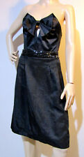 """ALANNAH HILL size 10 """"NO BOYS ALLOWED"""" strapless cocktail DRESS with bow & beads"""