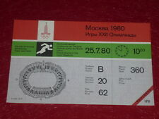 JEUX OLYMPIQUES OLYMPIC GAMES MOSCOU 1980 TICKET ATHLETISME 25.7.80 (10h00) TTBE