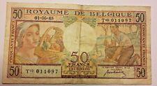 50 Francs 1948 50 Frank Belgïe Billet, Belgique