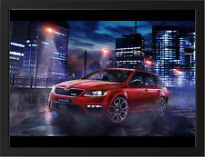 2015 SKODA OCTAVIA RS 230 NEW A3 FRAMED PHOTOGRAPHIC PRINT POSTER