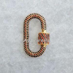 New Carabiner Lock, Black Onyx and Ruby Gemstone Carabiner Lock Jewelry