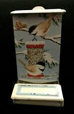 New listing Vintage Jasco Hong Kong Tin Wall Mount Match Box Holder Little Birds