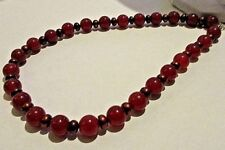 Pearl Sterling Silver Necklace Egyptian Revival Carnelian And Choclate