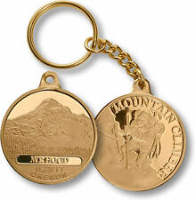Mt Hood Oregon Elevation Mountain Climber coin style keychain