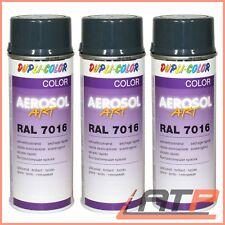 3x 400ml DUPLI COLOR AEROSOL ART RAL 7016 ANTHRAZITGRAU GLANZ SPRÜH LACK SPRAY