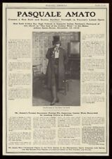 1910 Puccini Girl of the Golden West Pasquale Amato photo vintage trade print ad