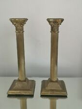 Antique Collectable Rare Pair Of Corinthian Column Candlesticks