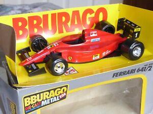 Burago- 1/24 Scale Ferrari 641/2 - Red  - cod. 6101 - Diecast Metal Model- Boxed