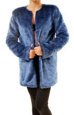 For Love & Lemons Women's Wanderlust Faux Fur Coat Blue Size S RRP £250 BCF69