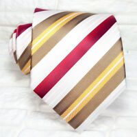 TIE striped tie new 100% silk Made in Italy brand M. WIDE Morgana brand