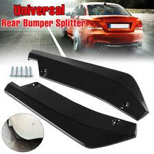 2x Universal Car Rear Bumper Lip Diffuser Splitter Canard Protector Gloss