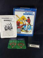 Big League Baseball (Intellivision) Complete Box Manual 2 overlays Major MLB