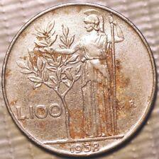 100 Lire 1958 large type Italy KM# 96.1