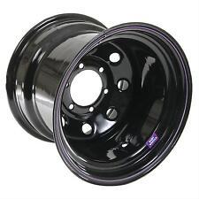 "Bart Wheels Wheel Series 413 Super Trucker Black 15""x12"" 6x5.5"" 4"" Set of 4"