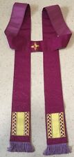 Purple Brocade Priest's Stole