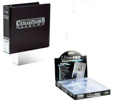 1 ULTRA PRO BLACK BINDER COLLECTORS ALBUM + 100 PLATINUM 9-POCKET PAGES SLEEVES