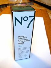 Boots No7 Protect & Perfect INTENSE Aging Serum Bottle - 1 oz (In Box)