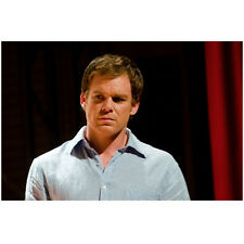 Dexter Michael C. Hall standing next to red curtain 8 x 10 Inch Photo