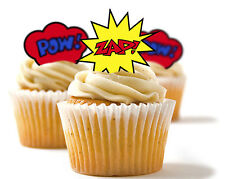 ✿ 24 Edible Rice Paper Cup Cake Toppper, decorations - Zap ✿