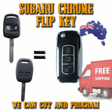 Subaru Chrome Transponder Remote Flip Key - Forester + Outback - New - FREE POST