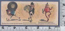 C522 Goff's Braid trade card Pawtucket, RI Palmer Cox Brownies ruler poem verse
