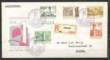 FDC E-21 - ZOMERZEGELS 1955 - GETYPT ADRES - AANGETEKEND VERZONDEN         Kr628