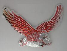 Sticker relief 3D autocollant  Aigle reflet rouge moto custom motard auto eagle