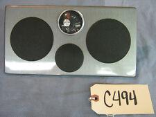 NOS Crestliner Dash Panel w/ Fuel Gauge, Brushed Gray, lot C494