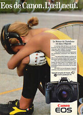 PUBLICITE ADVERTISING  1987   CANON   appareil photo EOS