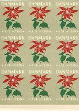 STAMP / TIMBRE DU DANEMARK DANMARK / NON DECOUPE / FLEUR / JUILLET 1950 **