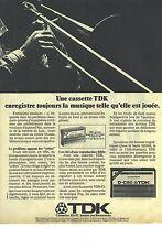 PUBLICITE ADVERTISING  1988   TDK cassettes enregistreuses