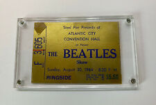 RARE Beatles Concert Ticket Stub | Atlantic City 1964 | Gold Ringside Seat