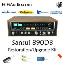 Sansui 890DB rebuild restoration Capacitor Kit fix repair filter capacitor