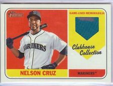 2018 Topps Heritage Clubhouse Collection Nelson Cruz jersey relic Mariners