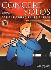 Concert Solos for the Young Flute Player Sheet Music Book/CD Play Along Piano