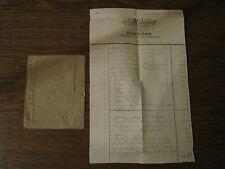 1 Rechnung Flaschnerei Schaaf Heilbronn Neckargartach von 1913 + Briefumschlag