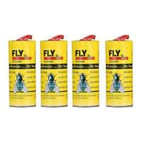 4-ROLLS INSECT FLY GLUE PAPER CATCHER TRAP STICKY FLIES RIBBON TAPE BUG ROL D2B6