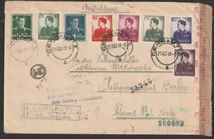 Fp  2.Wk Rumänien Rumänen 1943 R-Bf ab Cernauti an Fp L 36080, Stempel Zensuren