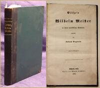 Gregorovius Göthe's Wilhelm Meister in sociali. Elementen 1855 Belletristik sf