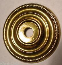 "Bright Brass Escutcheon Plate 1-1/4""  Dresser Cabinet Drawer Door NOS LOT of 4"