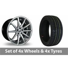 "4 x 19"" AVA New York Hyper Silver Alloy Wheel Rims and Tyres -  215/35/19"
