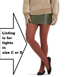 NEW Spanx Size C or D Tight End TIGHTS Tummy Butt Shaper Mahogany Brown L or XL