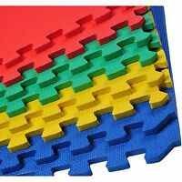 INTERLOCKING EVA SOFT FOAM EXERCISE FLOOR MATS GARAGE OFFICE KIDS PLAY ALPHABET