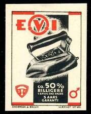 Denmark Poster Stamp - E.V.I. Electric Iron - Mærkat #491