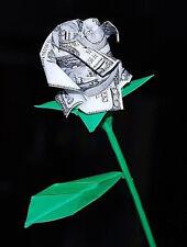 Origami Money Rose Us Dollar paper Flower christmas anniversary graduation gift
