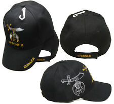 Shriner Emblem Black With Shadow Embroidered Cap